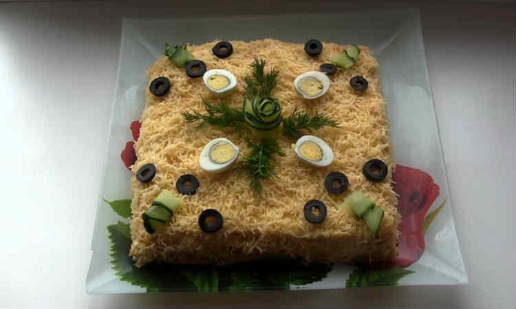 Salat Mimoza s rybnymi konservami25