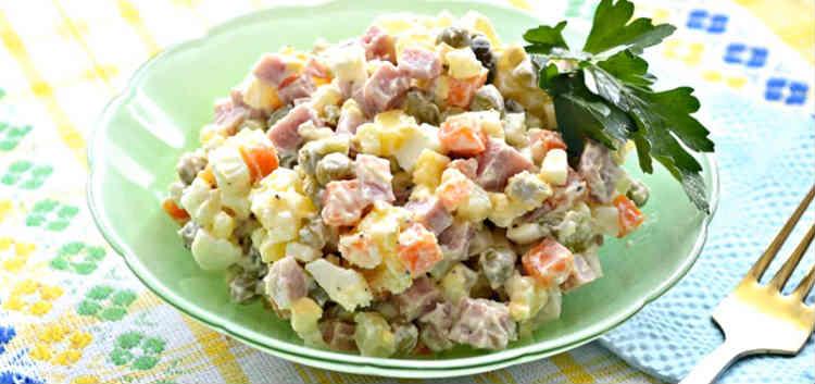 Salat s goroshkom konservirovannym i yajcom22