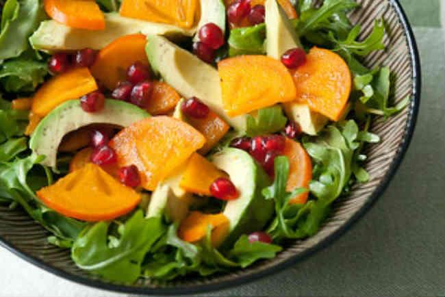 Салат с хурмой — 14 рецептов