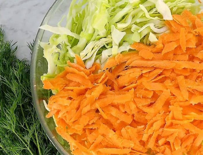 Salat iz svezhej kapusty s morkov'yu9