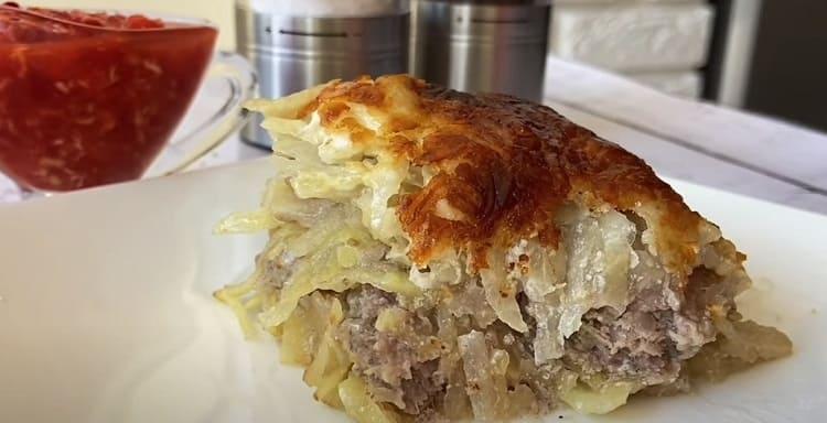 Kartofel'naya zapekanka s farshem v duhovke
