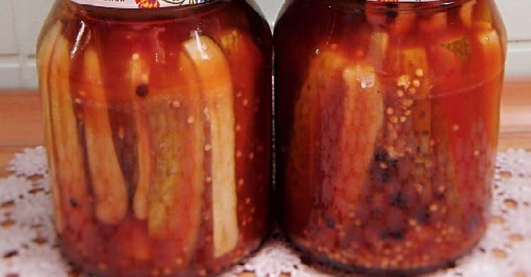 Ogurcy s ketchupom na zimu5