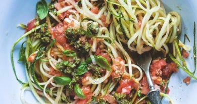 Спагетти из кабачков — 10 рецептов